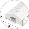 テント倉庫サイズの測り方