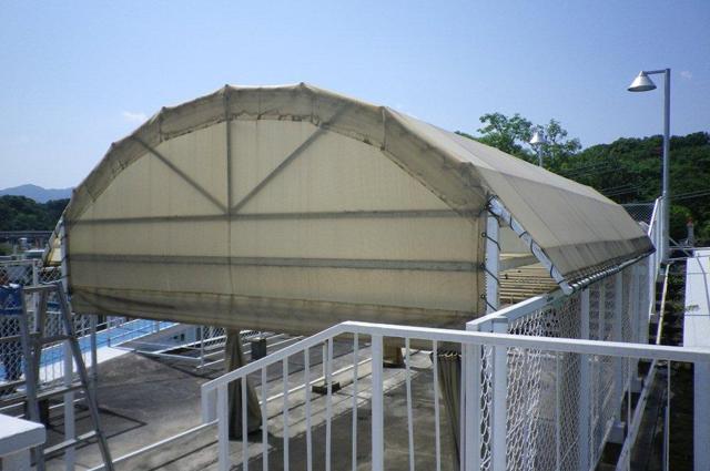 テント倉庫 張替え修理の事例・兵庫県西宮市 福祉施設