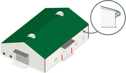 テント倉庫 シートキャップ法