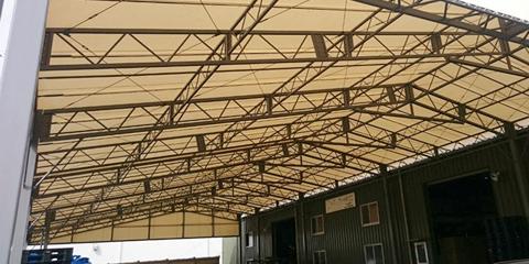 上屋テントタイプ 固定式で側面開放型(拡大)