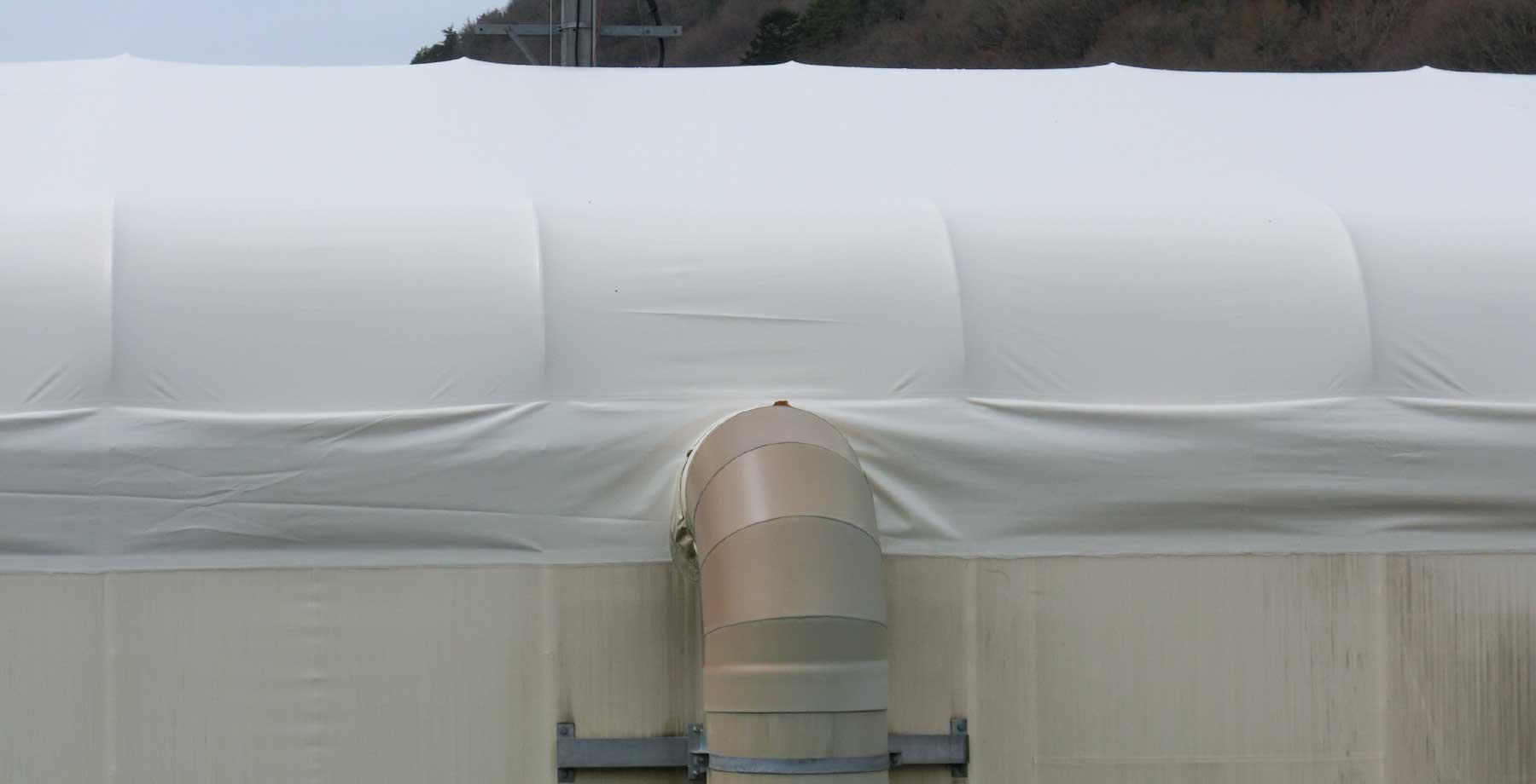 テント倉庫屋根キャップシートの張替え画像3