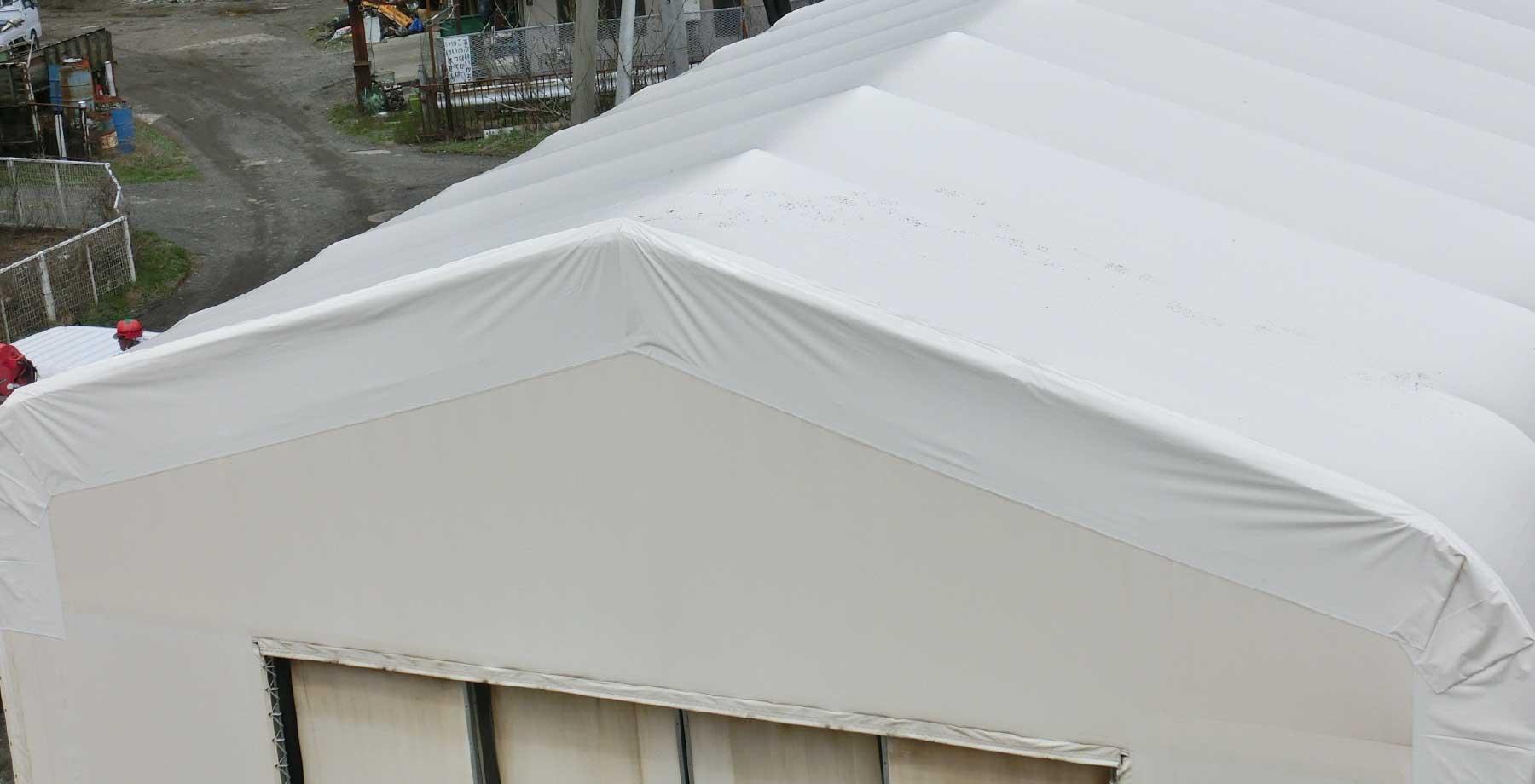 テント倉庫屋根キャップシートの張替え画像4