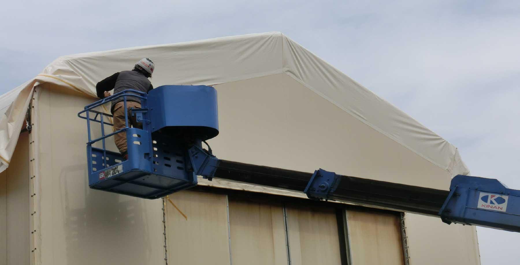 テント倉庫屋根キャップシートの張替え画像6