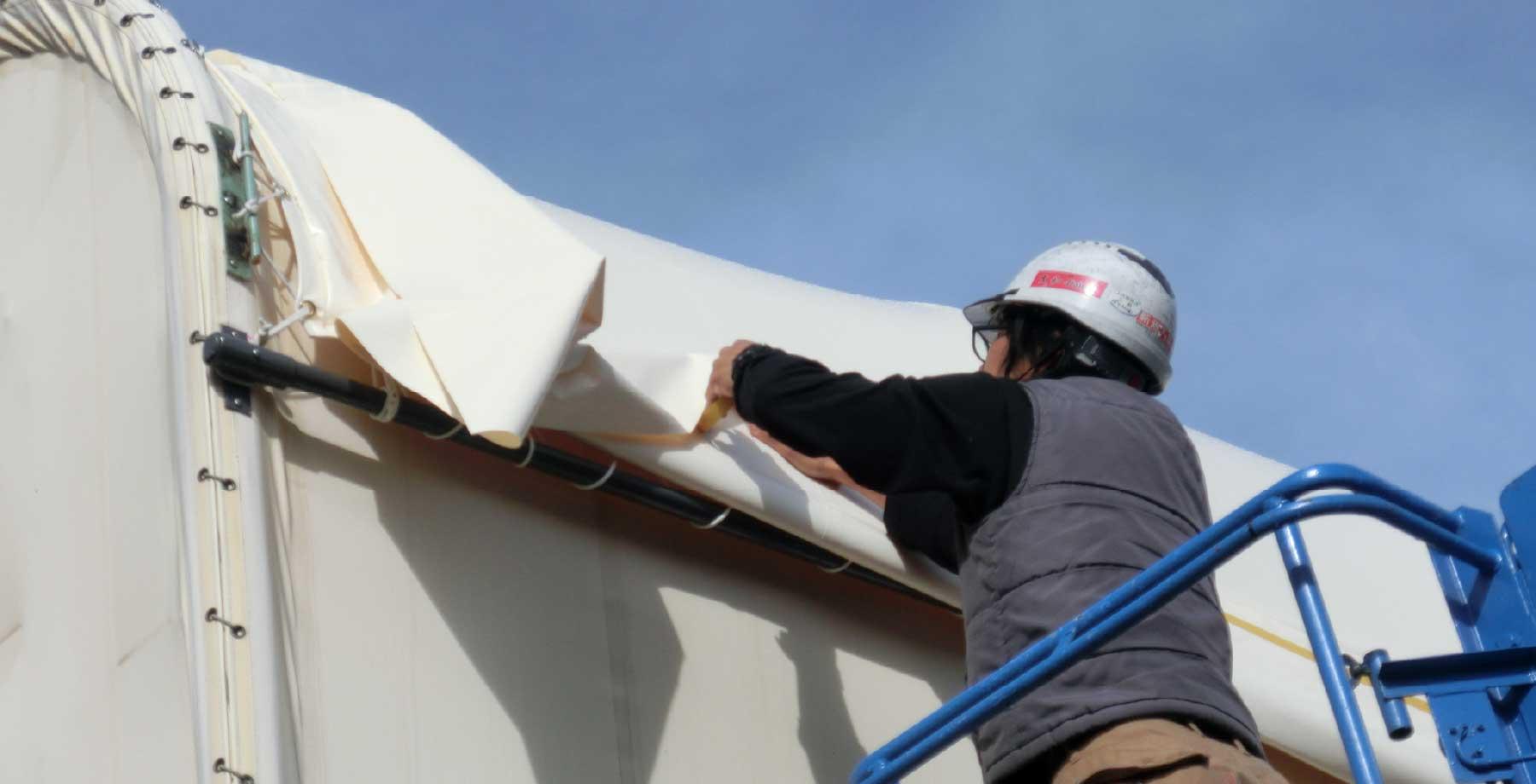 テント倉庫屋根キャップシートの張替え画像7