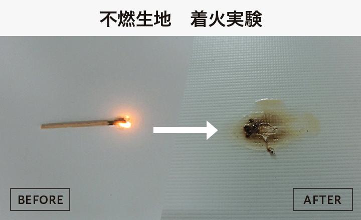 不燃生地着火実験
