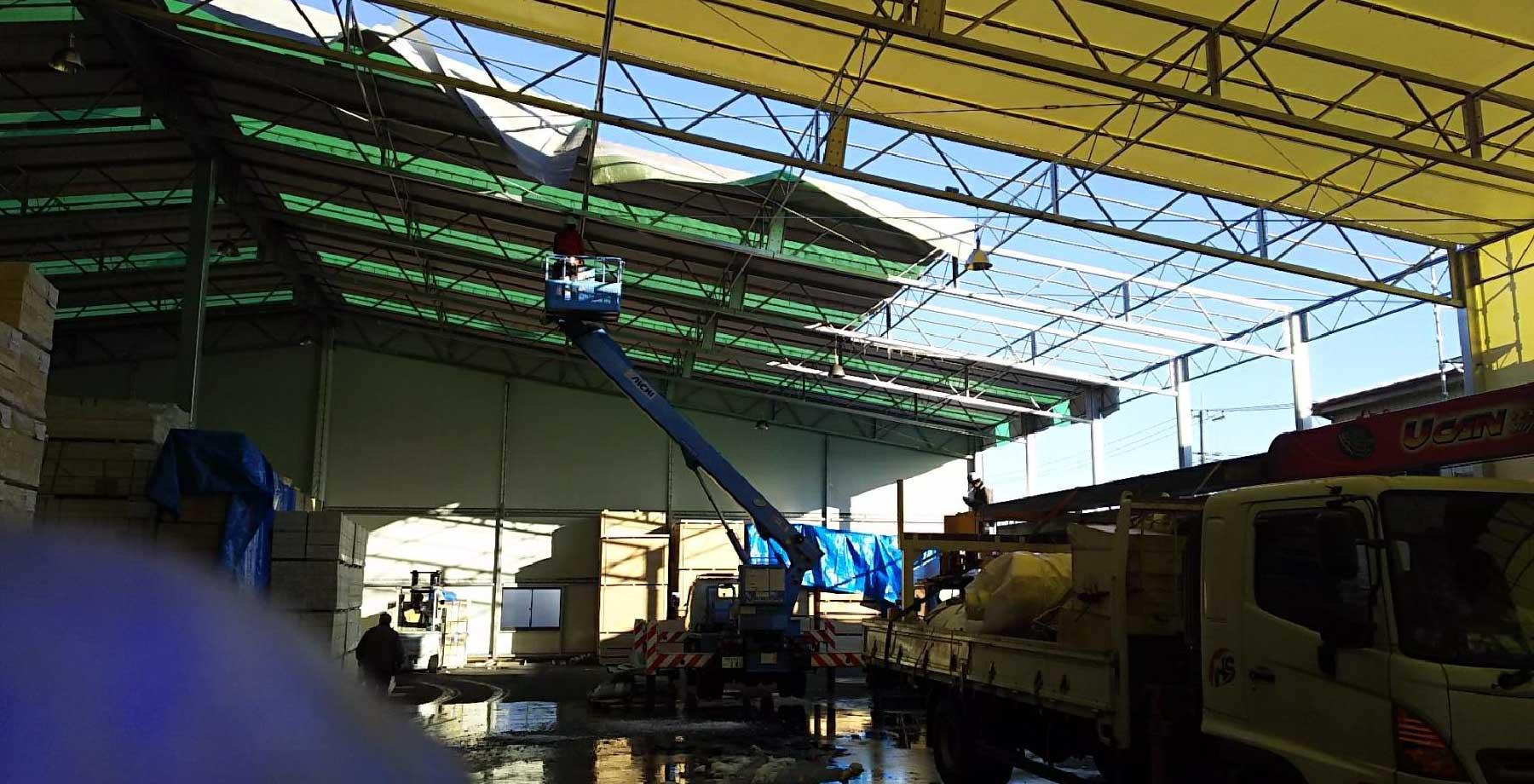 テント倉庫修理・張替え画像2