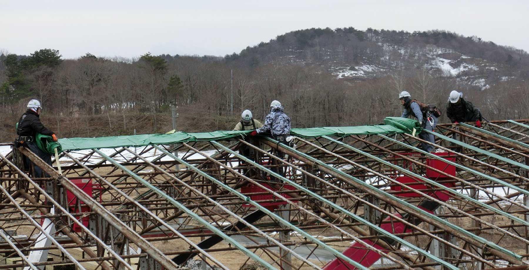 テント倉庫修理・張替え画像4