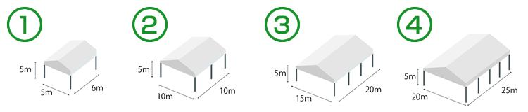上屋テント 価格の目安