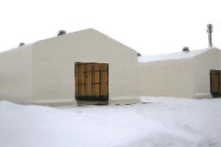 積雪テント倉庫