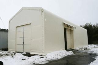 積雪テント倉庫張替え