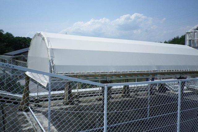 テント倉庫 修理・張替えの事例(兵庫県西宮市)