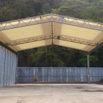 可動式開閉テント倉庫